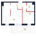 deweloperskie mieszkania rzeszów - rzut mieszkania b119-m