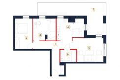 deweloperskie mieszkania rzeszów - rzut mieszkania b12-m