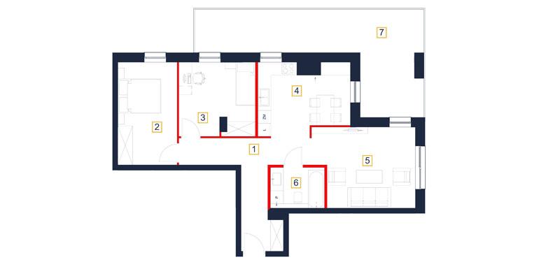 Mieszkanie – 3 pokój – balkon – 74,51 m<sup>2</sup> – Rzeszów