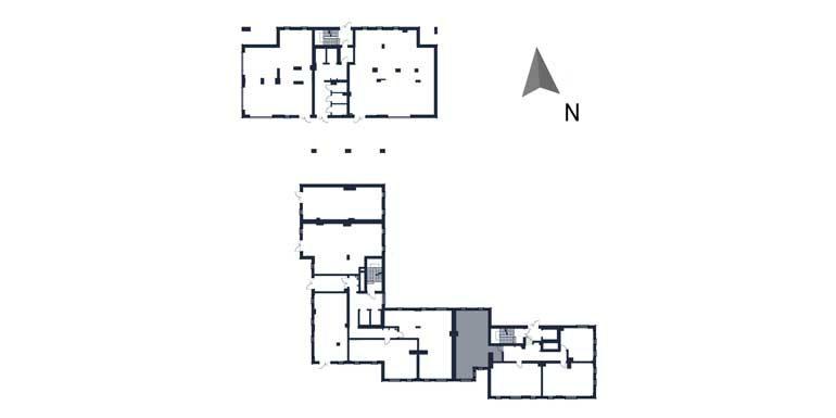 deweloperskie mieszkania rzeszów - rzut kondygnacji z zaznaczonym mieszkaniem  b120-rzut