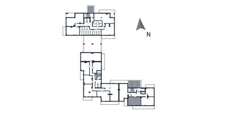 sprzedaż mieszkań rzeszów - rzut kondygnacji z zaznaczonym mieszkaniem  b123-rzut