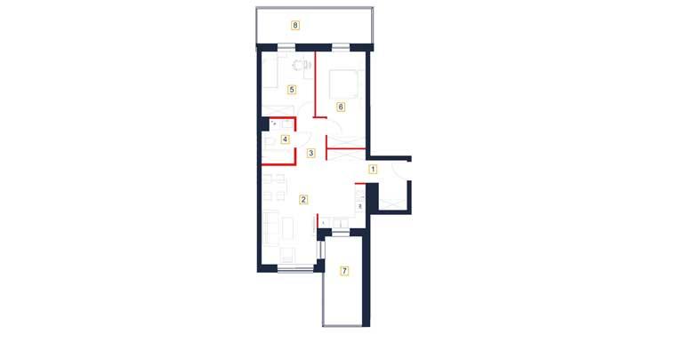 Mieszkanie – 3 pokój – balkon – 66,56 m<sup>2</sup> – Rzeszów