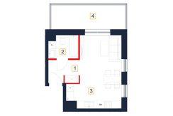 deweloperskie mieszkania rzeszów - rzut mieszkania b125-m