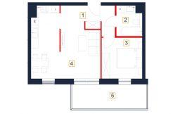 deweloperskie mieszkania rzeszów - rzut mieszkania b127-m