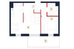 deweloperskie mieszkania rzeszów - rzut mieszkania b131-m