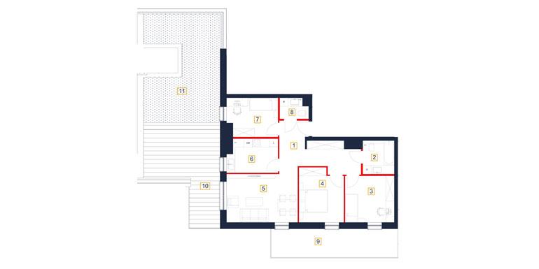 Mieszkanie – 4 pokój – taras- 82,27 m<sup>2</sup> – Rzeszów