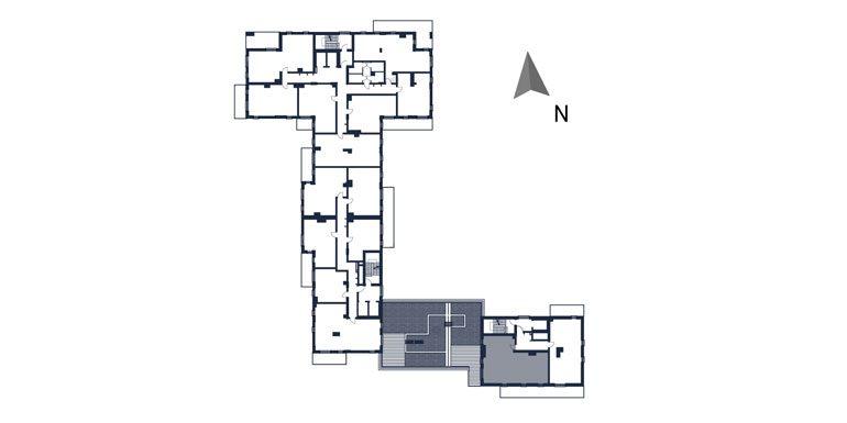 deweloperskie mieszkania rzeszów - rzut kondygnacji z zaznaczonym mieszkaniem  b134-rzut