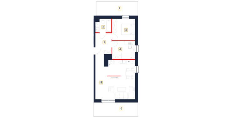 Mieszkanie – 3 pokój – balkon – 65,24 m<sup>2</sup> – Rzeszów
