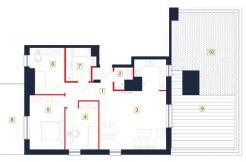 mieszkania rzeszów - rzut mieszkania b137-m
