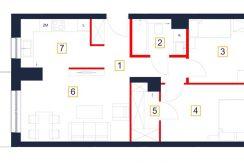 deweloperskie mieszkania rzeszów - rzut mieszkania b15-m