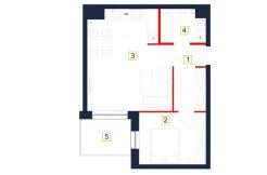 deweloperskie mieszkania rzeszów - rzut mieszkania b16-m