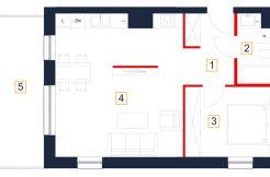 deweloperskie mieszkania rzeszów - rzut mieszkania b17-m