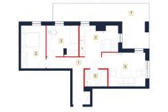 deweloperskie mieszkania rzeszów - rzut mieszkania b19-m