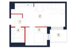 deweloperskie mieszkania rzeszów - rzut mieszkania b21-m