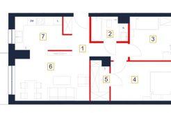 deweloperskie mieszkania rzeszów - rzut mieszkania b22-m