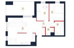 deweloperskie mieszkania rzeszów - rzut mieszkania b25-m