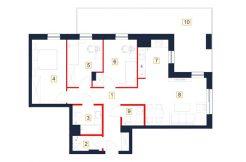 deweloperskie mieszkania rzeszów - rzut mieszkania b26-m
