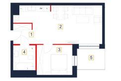 deweloperskie mieszkania rzeszów - rzut mieszkania b28-m