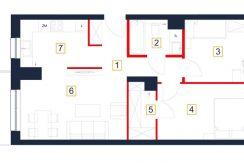 deweloperskie mieszkania rzeszów - rzut mieszkania b29-m
