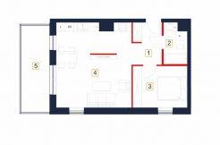 sprzedaż mieszkań rzeszów - rzut mieszkania b3-m