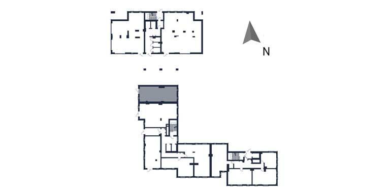 deweloperskie mieszkania rzeszów - rzut kondygnacji z zaznaczonym mieszkaniem  b3-rzut