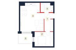 deweloperskie mieszkania rzeszów - rzut mieszkania b30-m