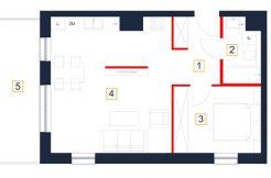 deweloperskie mieszkania rzeszów - rzut mieszkania b31-m
