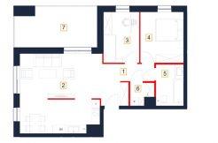 deweloperskie mieszkania rzeszów - rzut mieszkania b32-m