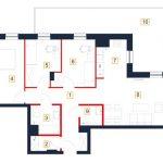 mieszkania rzeszów - rzut mieszkania b33-m