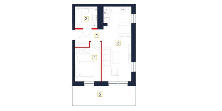 mieszkania rzeszów - rzut mieszkania  b34-m