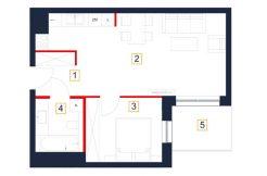 mieszkania rzeszów - rzut mieszkania b35-m