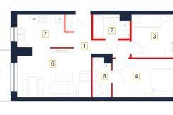 mieszkania rzeszów - rzut mieszkania b36-m