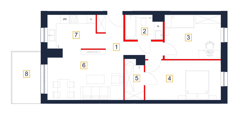 Mieszkanie – 3 pokój – balkon- 66,08 m<sup>2</sup> – Rzeszów
