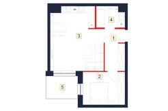 mieszkania rzeszów - rzut mieszkania b37-m