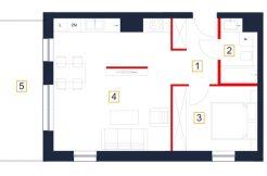 mieszkania rzeszów - rzut mieszkania b38-m