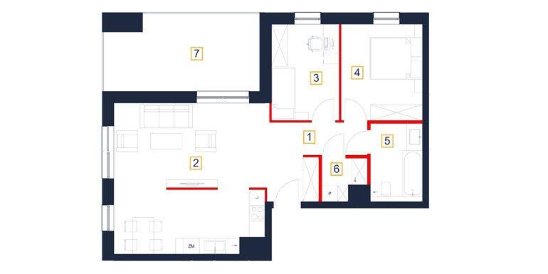 mieszkania rzeszów - rzut mieszkania  b39-m