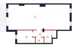 deweloperskie mieszkania rzeszów - rzut mieszkania b4-m