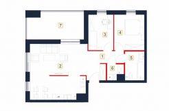 sprzedaż mieszkań rzeszów - rzut mieszkania b4-m