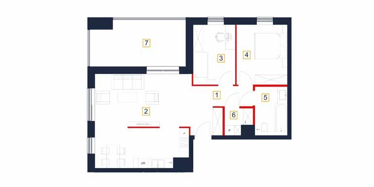 Mieszkanie – 3 pokój – loggia – 71,22 m<sup>2</sup> – Rzeszów
