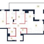 mieszkania rzeszów - rzut mieszkania b40-m