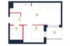 mieszkania rzeszów - rzut mieszkania b42-m