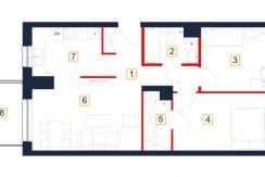 mieszkania rzeszów - rzut mieszkania b43-m