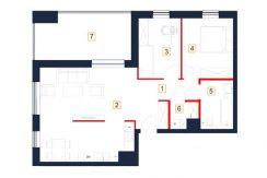 mieszkania rzeszów - rzut mieszkania b46-m