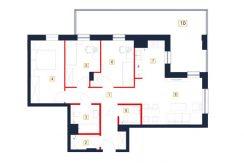mieszkania rzeszów - rzut mieszkania b47-m