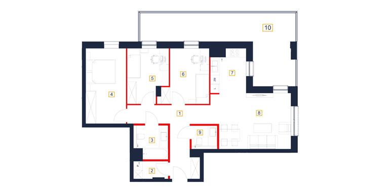 Mieszkanie – 4 pokój – balkon- 84,87 m<sup>2</sup> – Rzeszów