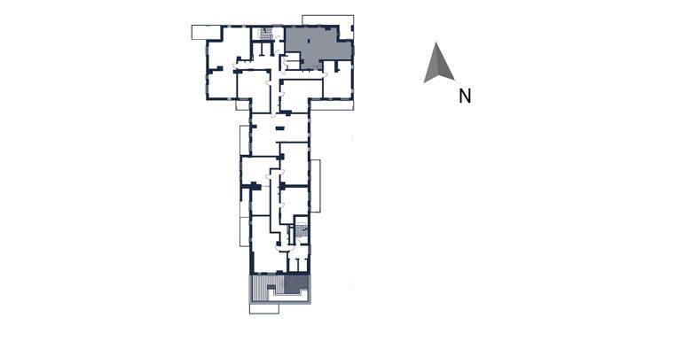 mieszkania rzeszów - rzut kondygnacji z zaznaczonym mieszkaniem  b47-rzut