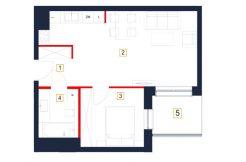 mieszkania rzeszów - rzut mieszkania b49-m