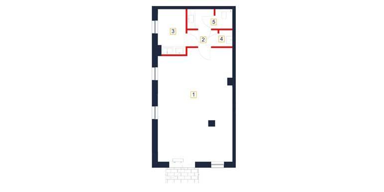 deweloperskie mieszkania rzeszów - rzut mieszkania  b5-m