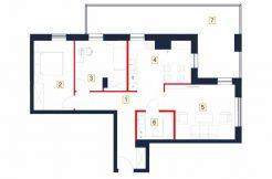 sprzedaż mieszkań rzeszów - rzut mieszkania b5-m