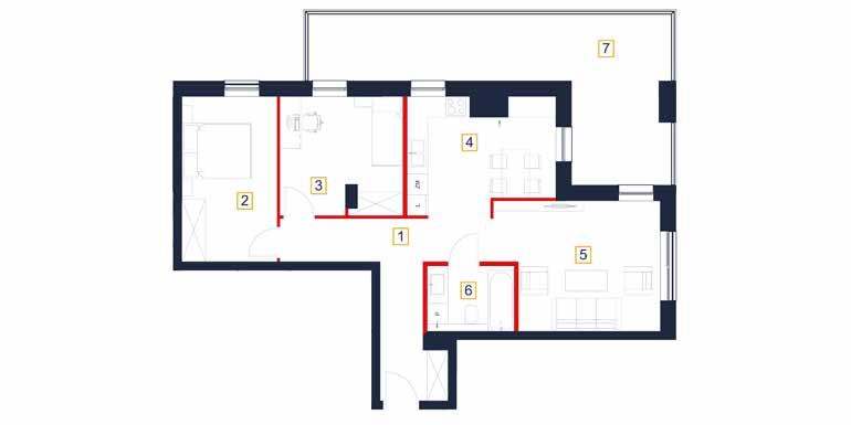 Mieszkanie – 3 pokój – loggia- 31,94 m<sup>2</sup> – Rzeszów